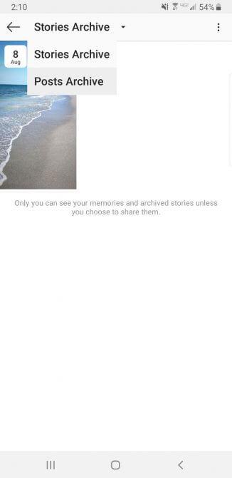 Tùy chọn lưu trữ bài viết trên Instagram