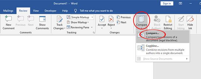 Tính năng so sánh điểm khác nhau giữa các file tài liệu