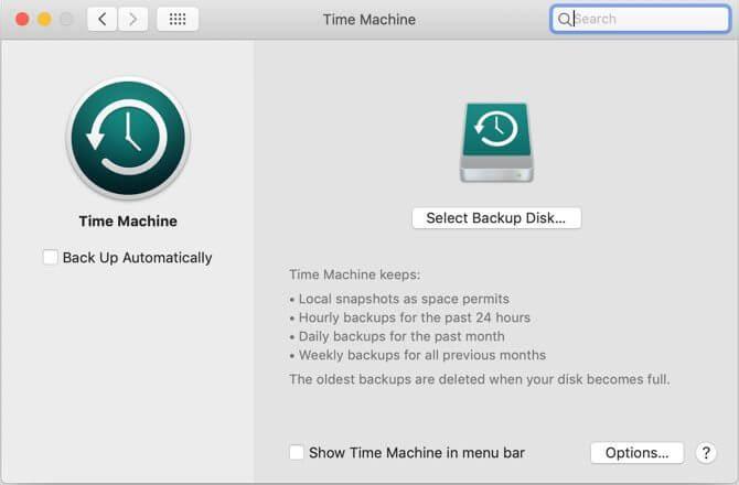 Sao lưu dữ liệu trên macOS bằng Time Machine
