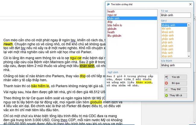 Phần mềm sửa lỗi chính tả tiếng Việt Tummo Spell