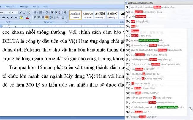 Phần mềm quét lỗi chính tả tiếng Việt ViCheckSpelling