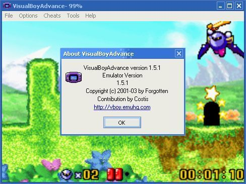VisualBoy Advance hoạt động mượt mà trên máy tính