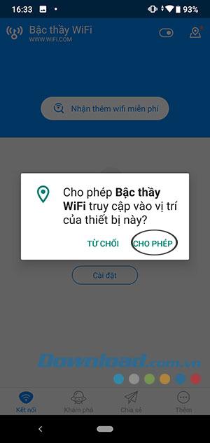 Cho phép ứng dụng truy cập vị trí