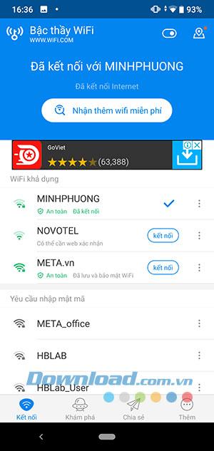 Ứng dụng Wifi chìa khóa vạn năng