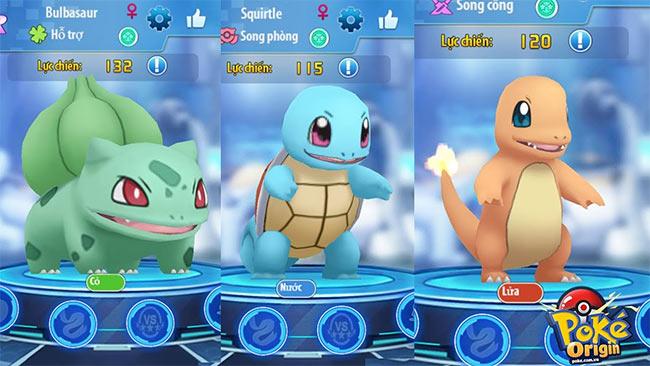 Bộ ba Pokemon khởi đầu của Poke Origin