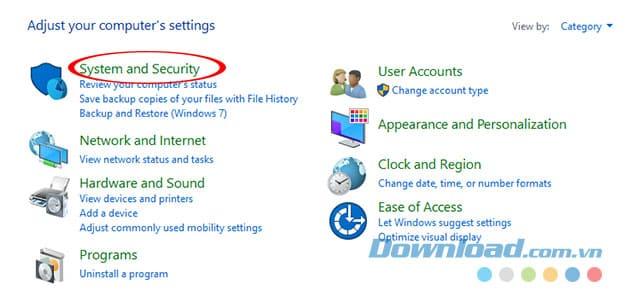 Thiết lập bảo mật trên máy tính