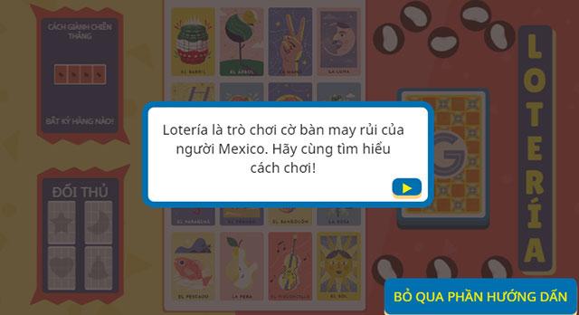 Giao diện hướng dẫn chơi game Loteria