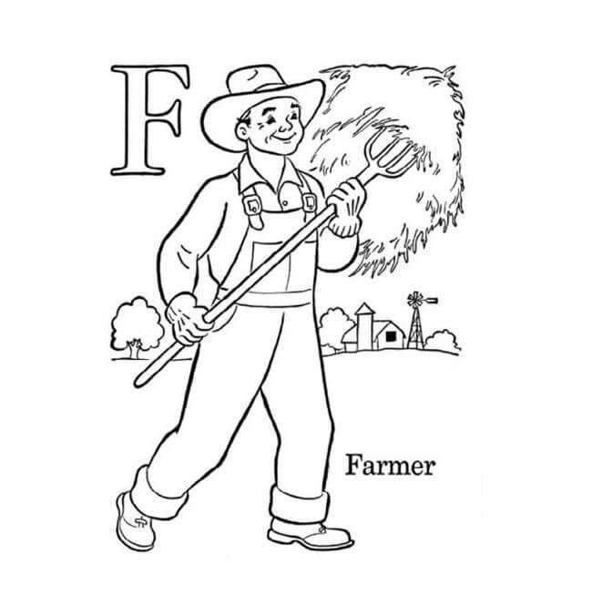 Tranh tô màu người nông dân