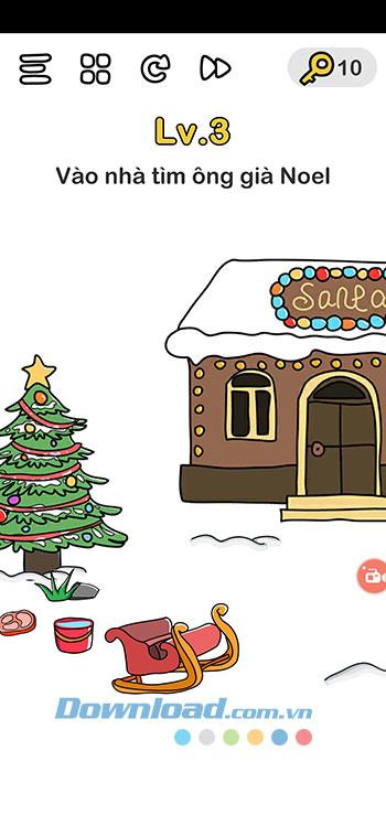 Đáp án Brain Out chủ đề Giáng Sinh 3