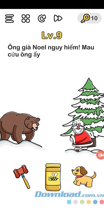 Đáp án Brain Out chủ đề Giáng Sinh 9
