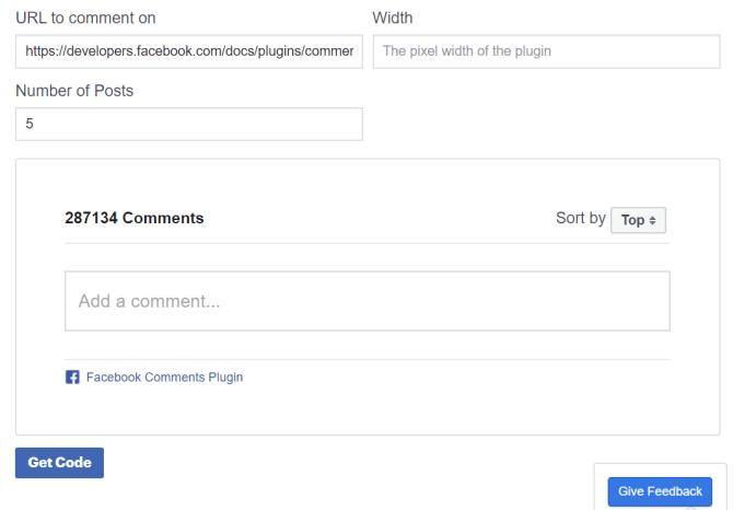 Plugin bình luận cho Facebook