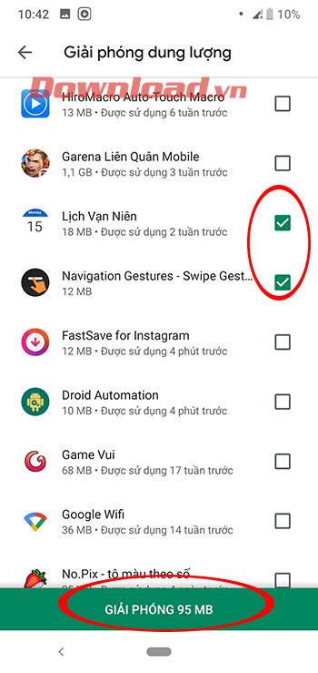 Cách gỡ ứng dụng hàng loạt trên Android