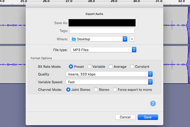 Audacity có nhiều tính năng để ghi, chỉnh sửa âm thanh và cũng hỗ nén file