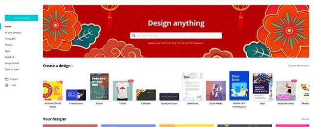 Canva là một webapp cho phép bạn thiết kế các tài liệu miễn phí