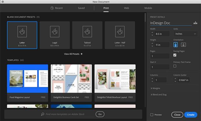 Adobe InDesign là chương trình thiết kế đồ họa chuyên sâu và trọng tâm là các thiết kế từ đầu