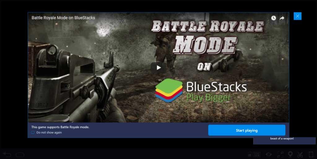 Dùng BlueStacks kích hoạt chế độ battle royale trong Free Fire PC