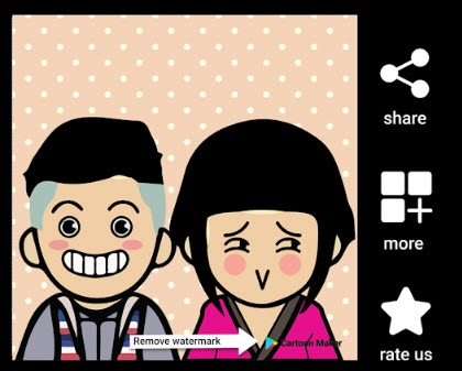 Cartoon Maker giúp bạn tạo ra các avatar vui nhộn