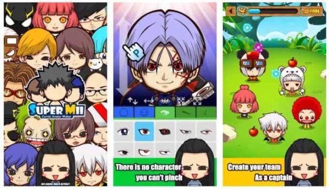 SuperMii tạo avatar phong cách anime