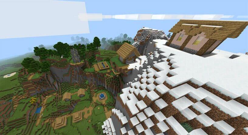 Seed ngôi làng trên núi tuyết