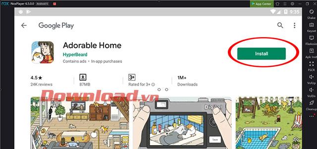 Cài đặt game Adorable Home