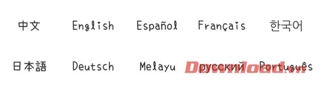 Chọn ngôn ngữ chơi game