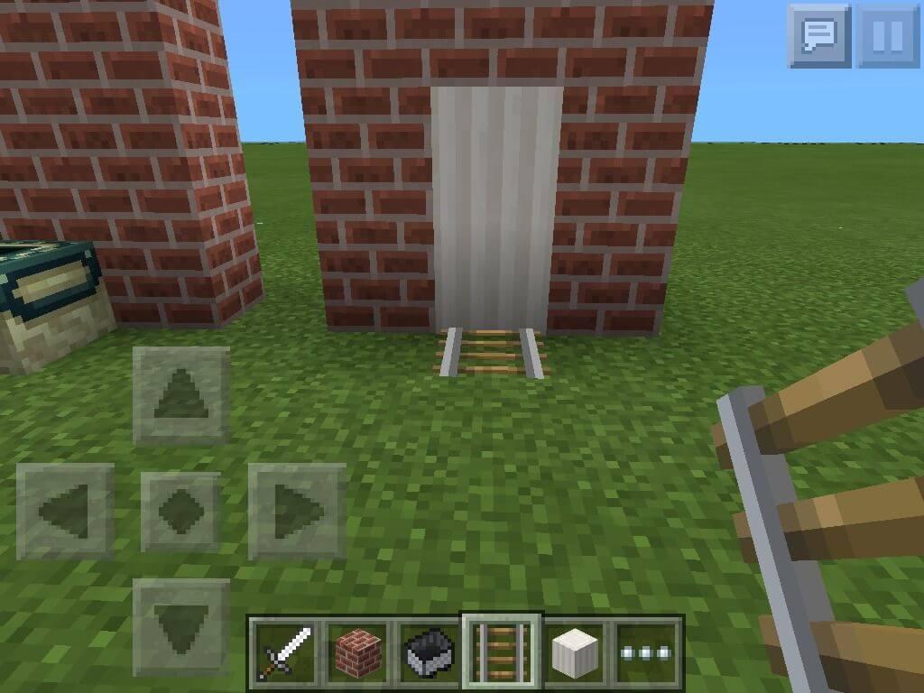 Lắp đặt cánh cửa nhà vệ sinh trong Minecraft