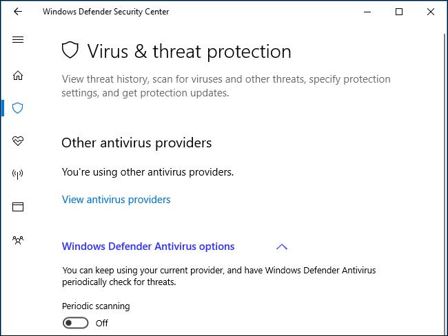 Tắt tính năng quét định kỳ của Windows Defender