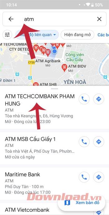 Tìm ATM