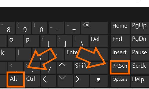 Nhấn Alt + PrtScn để chụp cửa sổ đang mở