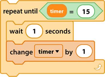 Kịch bản đồng hồ hẹn giờ trong Scratch