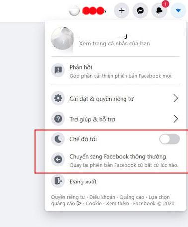 Chuyển về giao diện Facebook cũ