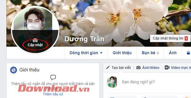 Thay đổi ảnh đại diện Facebook