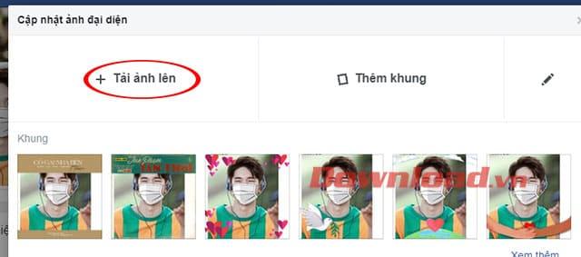 Tải ảnh đại diện lên Facebook