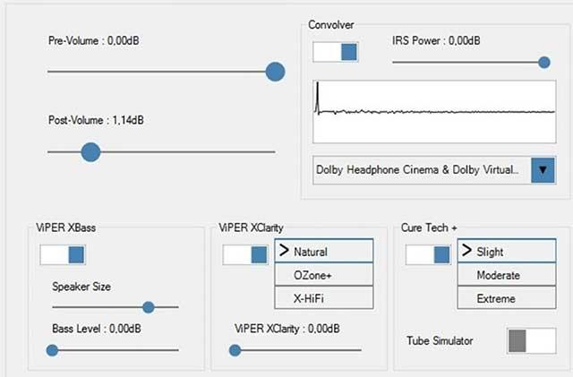 FXSound tích hợp bộ chỉnh âm và xử lý âm thanh thời gian thực