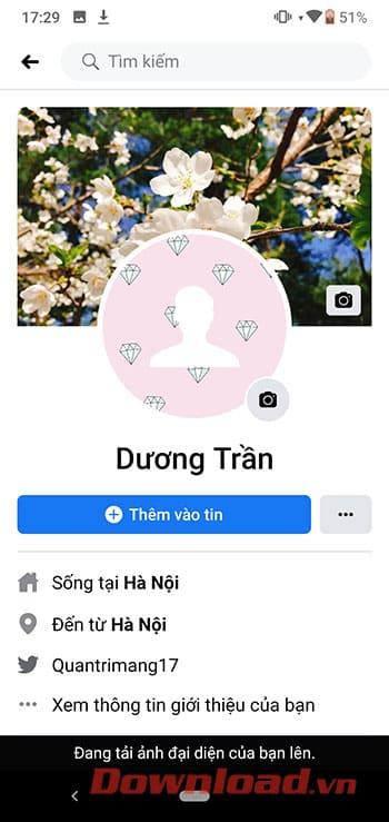 cach lam anh dai dien trong khong tren facebook 9