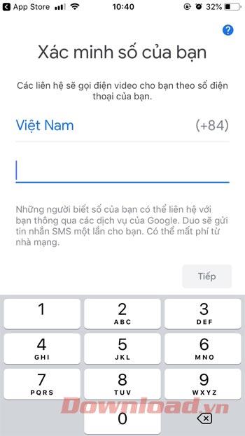 Xác minh số điện thoại