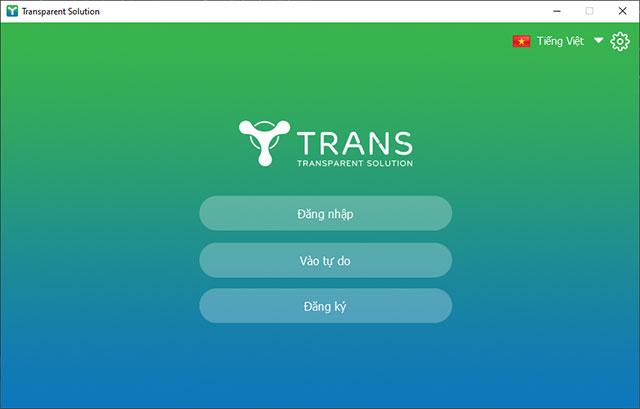 Ứng dụng TranS giao diện tiếng Việt