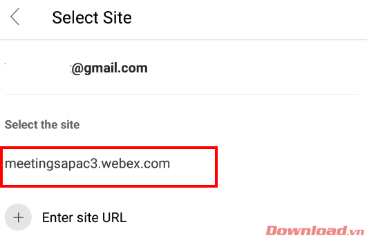 Select site