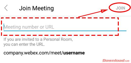 Meeting number