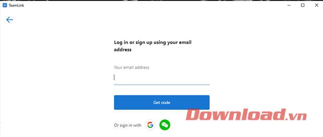 Nhập email TeamLink