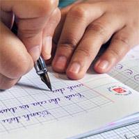 Cách tạo vở ô ly có chữ viết tay Tiểu học trong Word