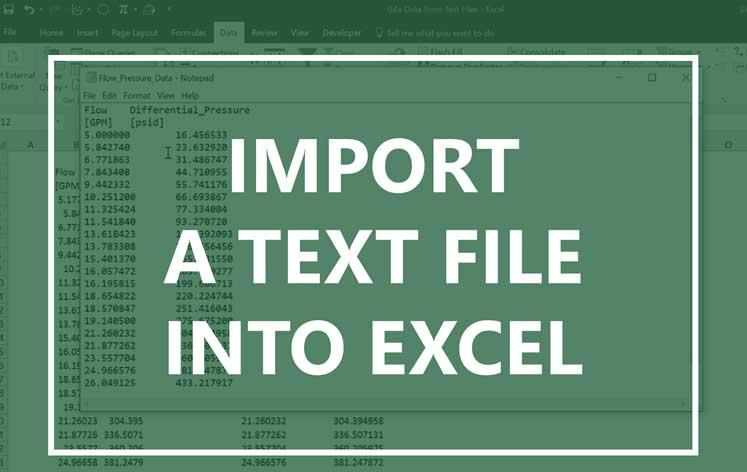 Nhập file text vào Excel