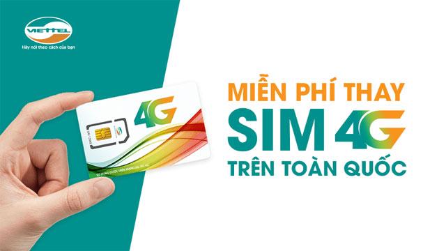 Miễn phí chuyển đổi sim 4G trên toàn quốc