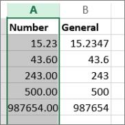 Định dạng cho số trên Excel Online
