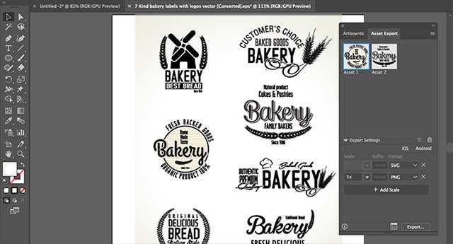 Cách lưu đối tượng từ ảnh Adobe Illustrator