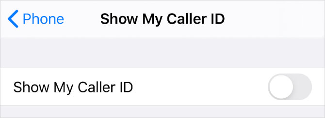 Cài đặt hiện ID người gọi trên iPhone