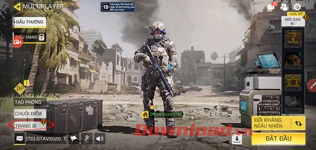 Giao diện chính của game Call Of Duty Mobile VN