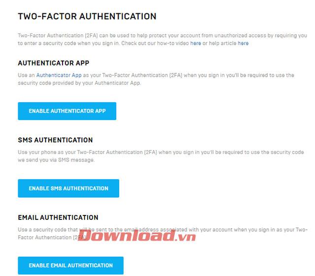 Chọn hình thức xác nhận mật khẩu bước 2
