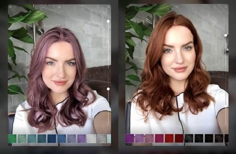 Ứng dụng biến đổi màu tóc ma thuật Magic Mirror cho smartphone
