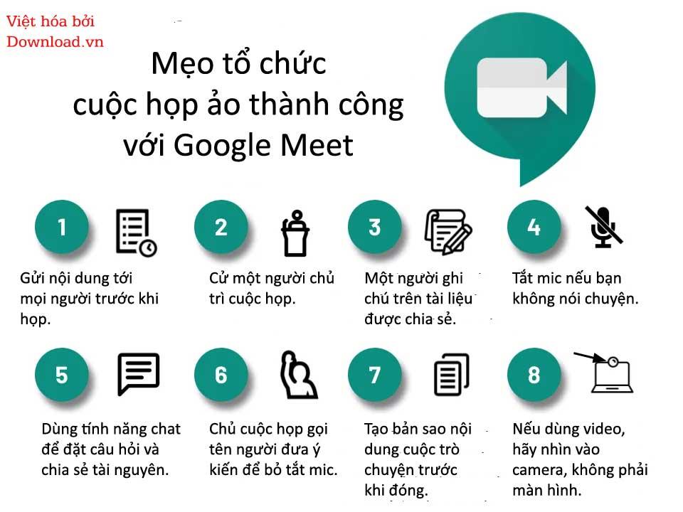 Mẹo họp onlien thành công với Google Meet